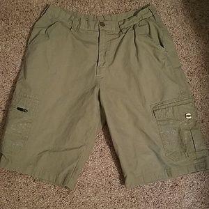 Nike khaki colored cargo shorts